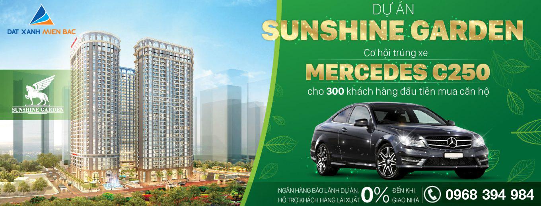 Cơ hội sở hữu Mercedes C250 cùng chung cư Sunshine Garden