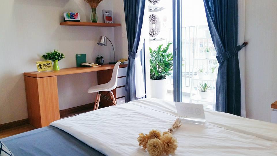 Phòng ngủ master căn hộ mẫu dự án T&T Riverview