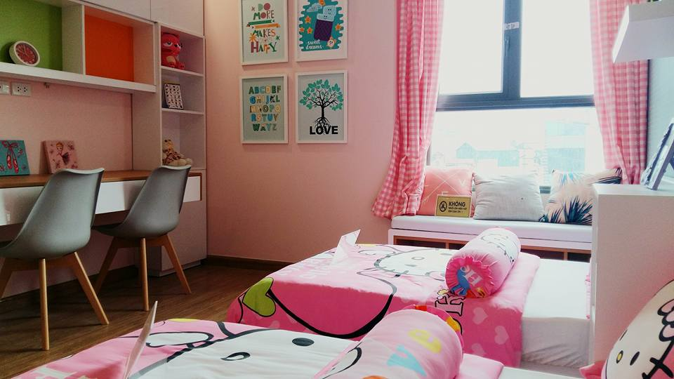 Phòng ngủ bé căn hộ mẫu dự án T&T Riverview