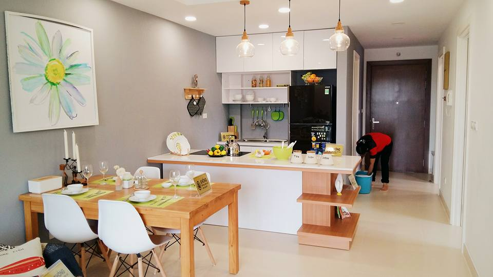 Phòng bếp dự án UDIC Riverside
