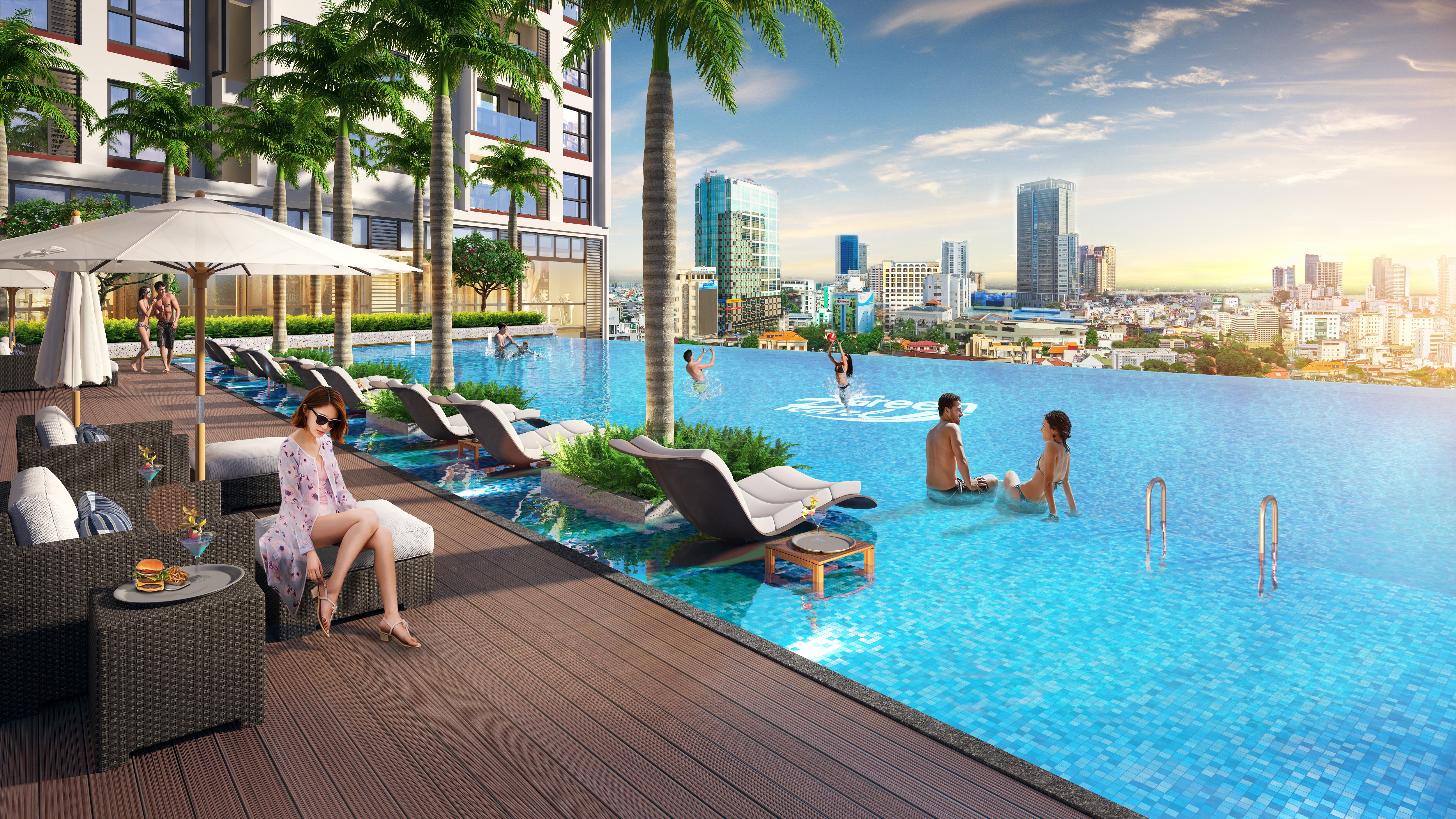 Bể bơi dự án 378 Minh Khai GreenPearl