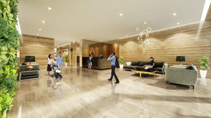 Sảnh căn hộ dự án 378 Minh Khai GreenPearl