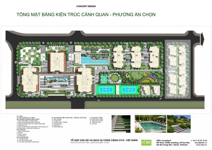 Tổng quan mặt bằng dự CT15A Việt Hưng - Green Park