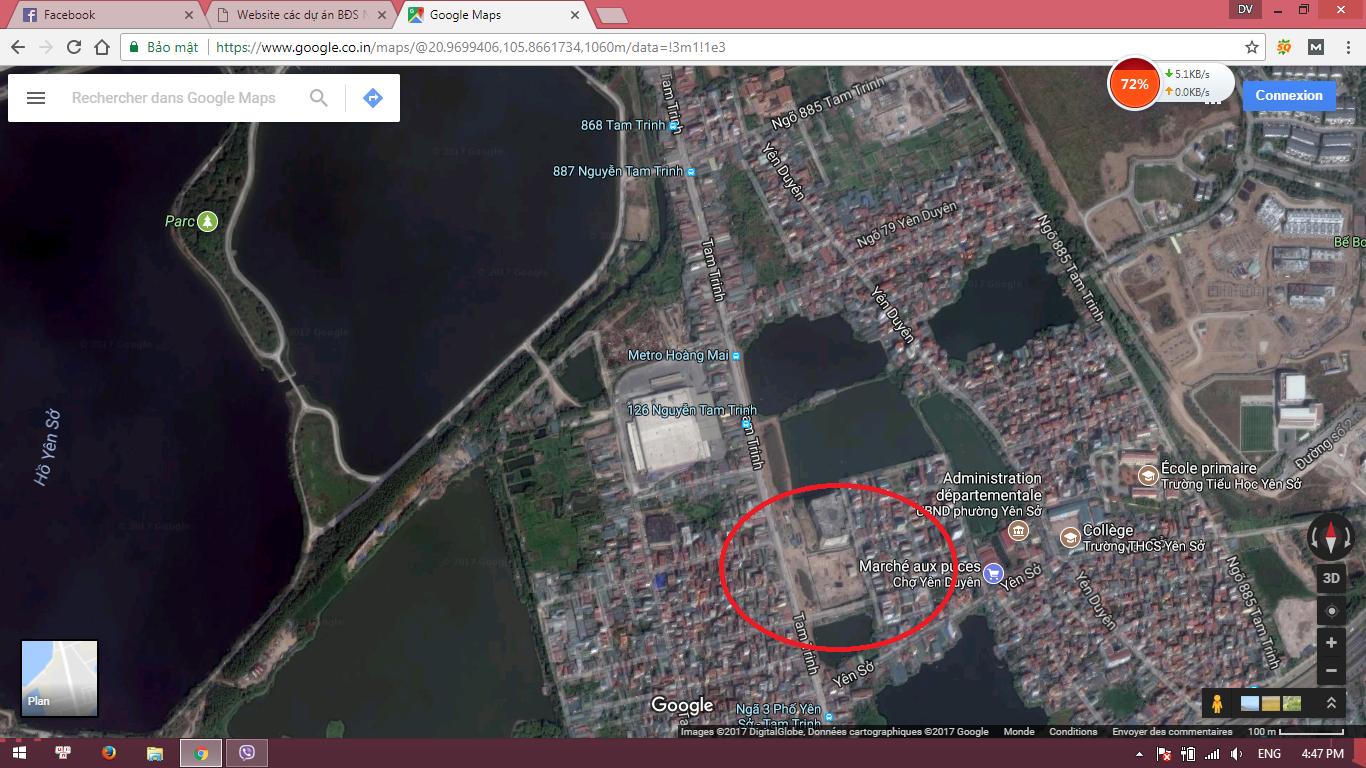 Vị trí chung cư 987 Tam Trinh