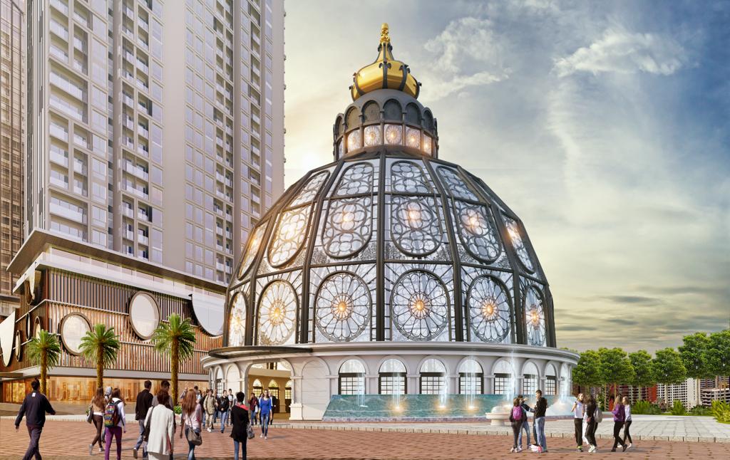Kết quả hình ảnh cho lâu đài thủy kính hinode city
