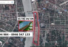vị trí dự án khu đô thị Bờ Đông Sông Đáy